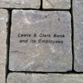 """Foundations of Hope"" stone located at the  new Children's Center care facility."